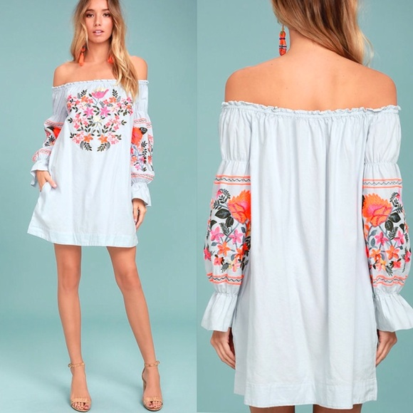 91315a2eb7996 Free People Dresses | Fleur Du Jour Shift Dress Nwt | Poshmark